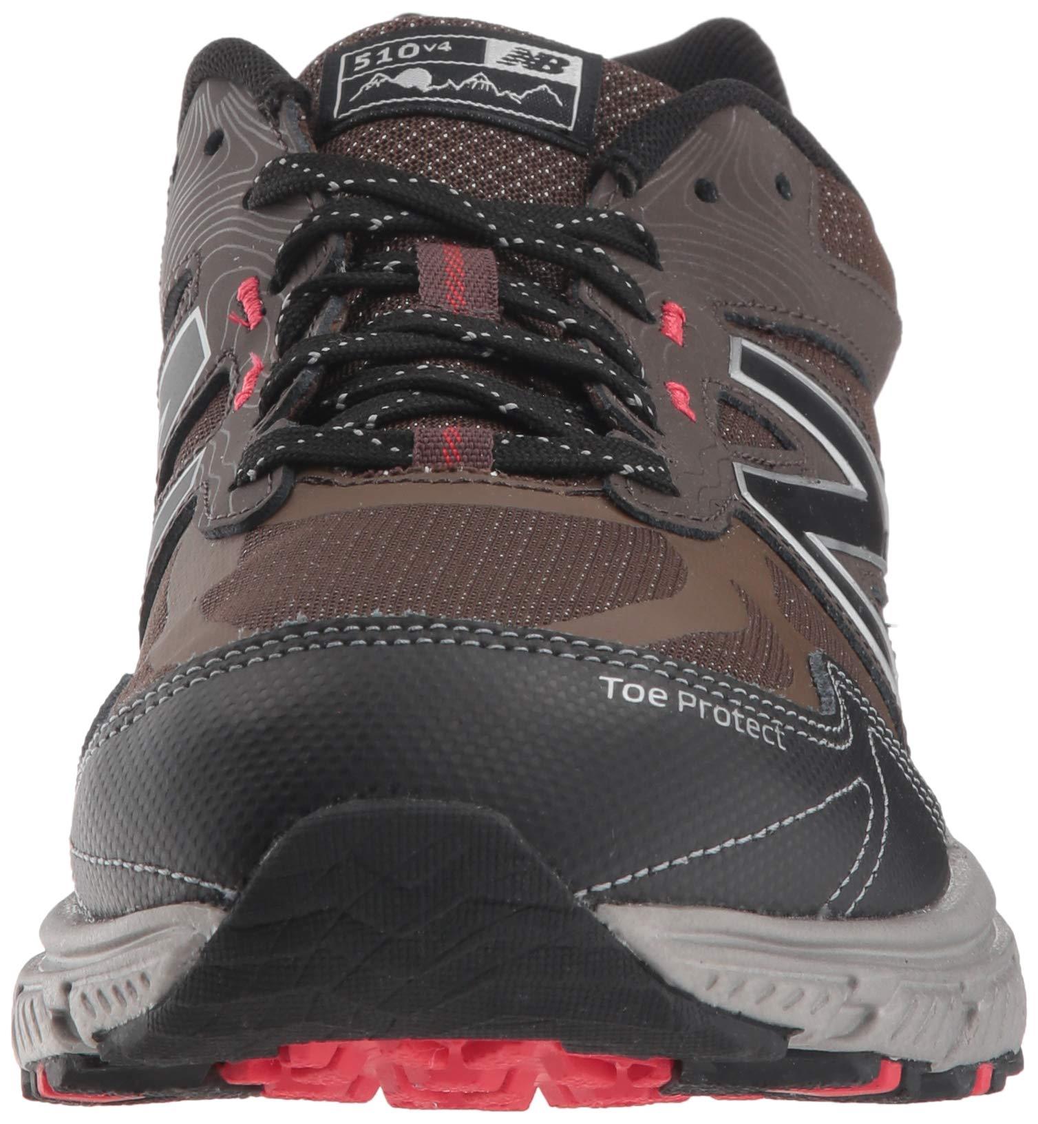 New Balance Men's 510v4 Cushioning Trail Running Shoe, Chocolate/Black/Team red, 7 D US by New Balance (Image #4)