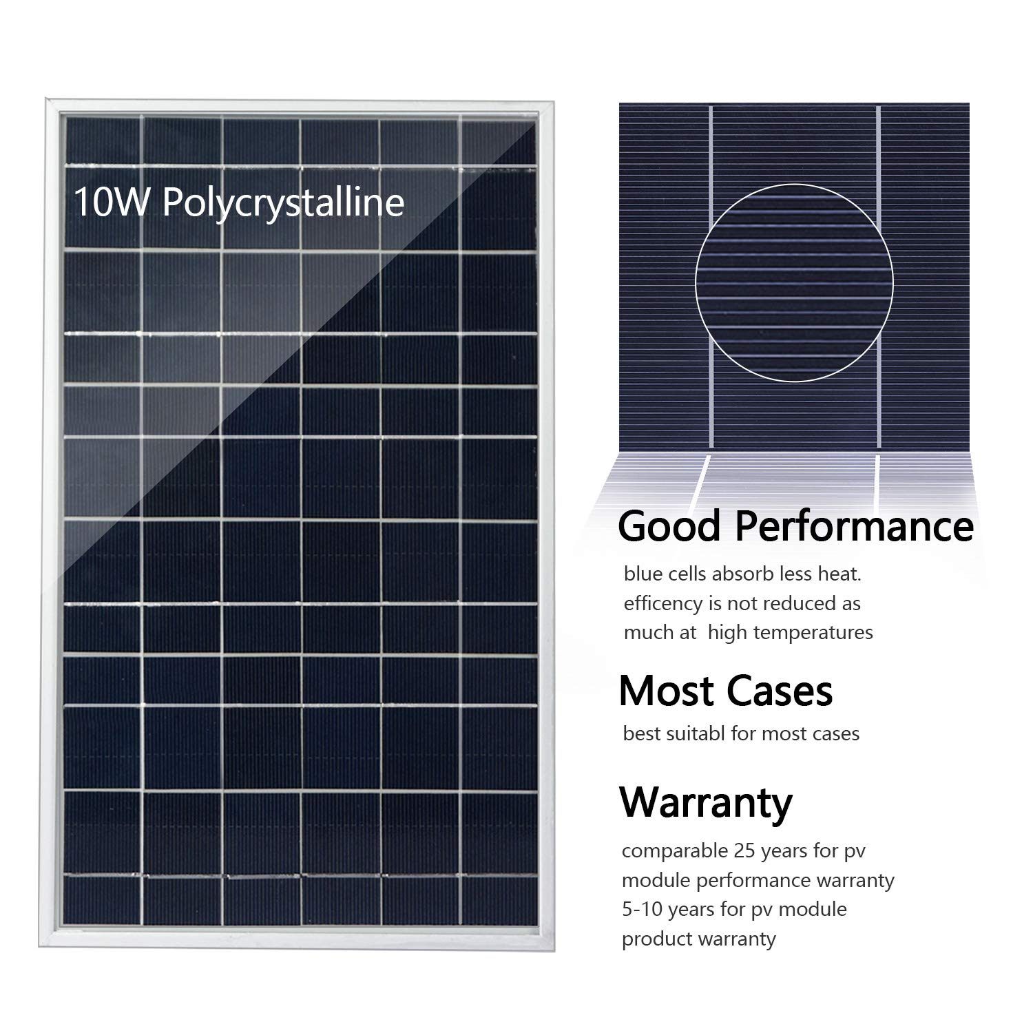 Amazon.com : ECO-WORTHY 10W PV Polycrystalline Solar Panel System kit W/ 3A  Charge Controller & 30A Battery Clips : Garden & Outdoor