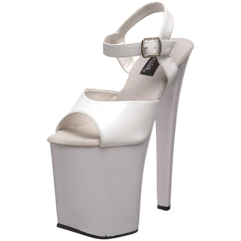 Pleaser Women's Xtreme-809WM Platform Sandal B000XUN7S4 14 B(M) US|White Patent