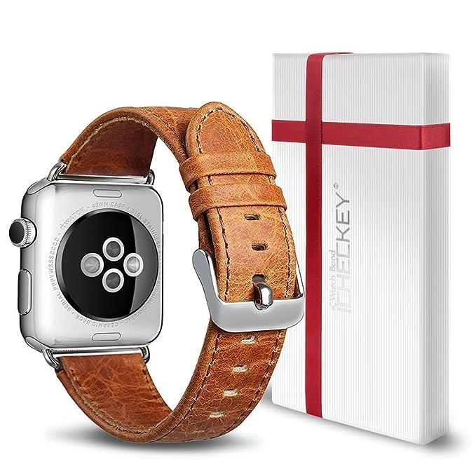 1 opinioni per Apple Watch strap-icheckey Premium 38mm/42mm cinturino in pelle Crazy Horse