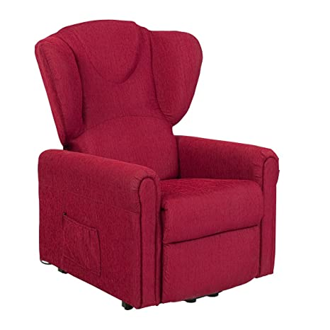 Sillón relax reclinable MEDIDA GRANDE. Con función levanta personas (peso soportado 160kg). Modelo Magica. Revestimiento en tejido en teflón color ...