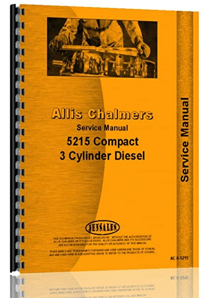 amazon com allis chalmers 5215 compact diesel 4wd service manual rh amazon com 7030 Allis Chalmers Specs Allis Chalmers H2