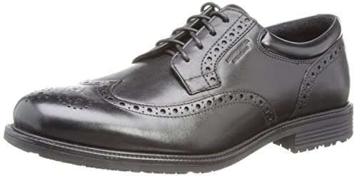 Rockport Essential Details Waterproof Wingtip,Men's Brouge,Black (Black),7W  UK