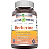 Amazing Formulas Berberine 500mg (1000mg Per Serving) 120 Capsules - Supports Immune Function, Cardiovascular & Gastrointesti