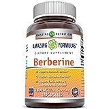 Amazing Formulas Berberine 1000mg Per Serving 120 Capsules - Supports Immune Function, Glucose Metabolism, Cardiovascular & Gastrointestinal Function
