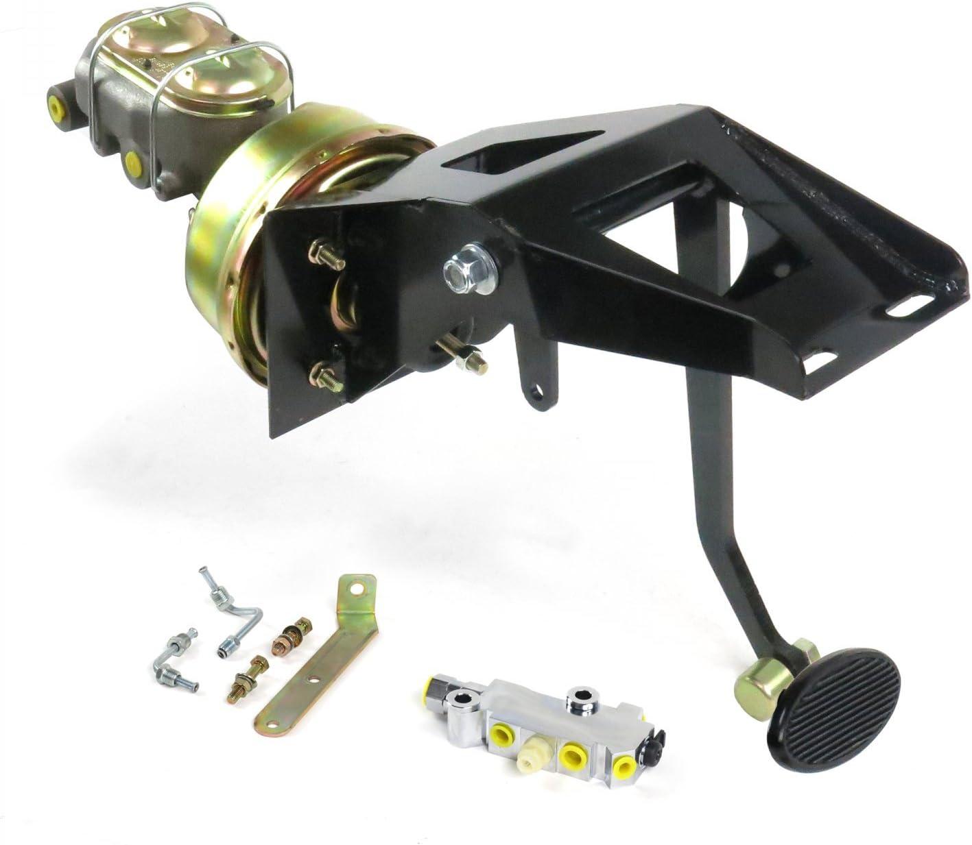 "Helix 324965 53-56 Ford Truck FW 7/"" Single Brake Pedal kit Adj Disk~Lg Oval Blk Pad"