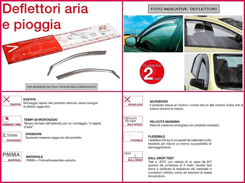 RICAMBIITALIA2017 Kit Deflettori Aria Antivento paravento antiturbo Antipioggia Anteriori 19.452 GENERICA