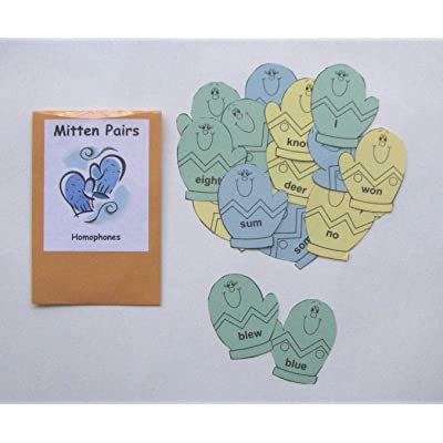 Teacher Created Literacy Center Educational Resource Learning Game Identifying Homophones: Toys & Games [5Bkhe0502599]