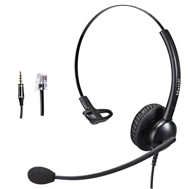181f0eebe97 MAIRDI Cisco Phone Headset with RJ9 Noise Cancelling Microphone for Offices Call  Centers Home Telephone Mono