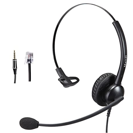Cisco Headset RJ9 Phone Headset for Cisco IP Phone with Noise Cancelling  Microphone Plus 3 5mm Connector