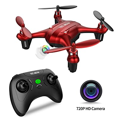 TEC.BEAN Mini Drone with 720P HD Camera Drone for Kids Entry Level Quadcopter for Kids with Hovering and Headless Mode One Key Take Off and Return Home: Toys & Games
