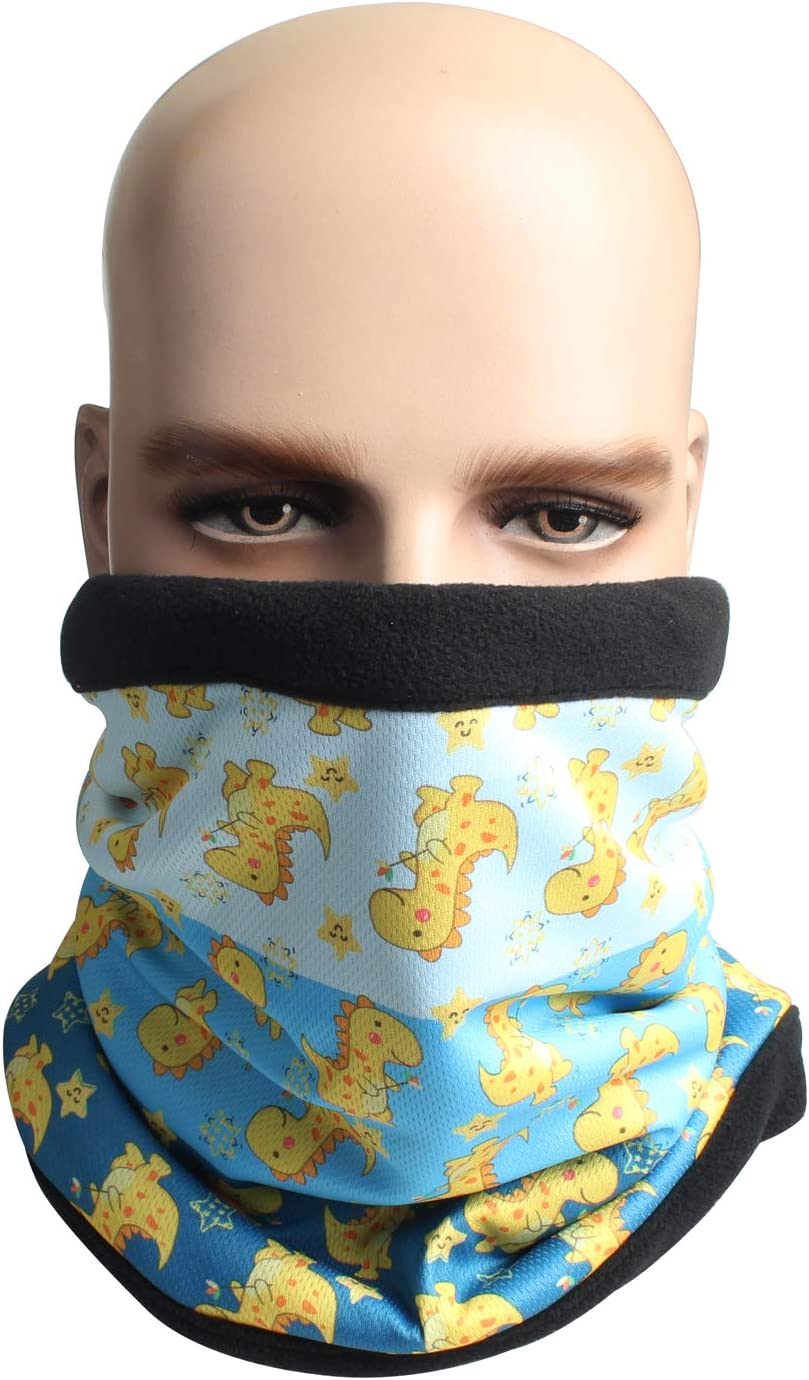 Winter Ski Mask Thickened Fleece Magic Motorcycle Scarf Warm Hat Face Cover Neckerchief Yellow