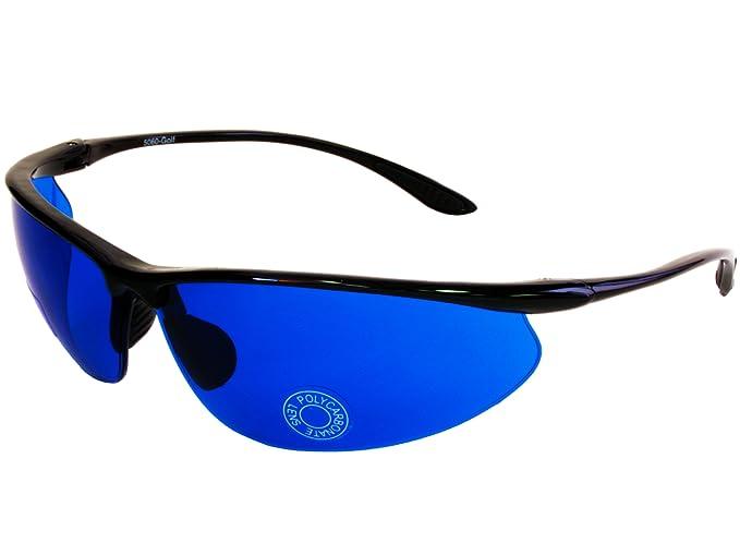 ac36ca55e92 Amazon.com  G G Golf Ball Finder Glasses Blue Lens Sunglasses (Black ...