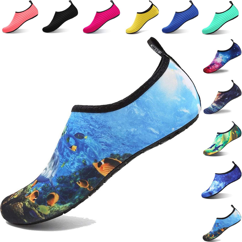 286238a3f Aqua Shoes Escarpines Hombres Mujer Niños Zapatos de Agua Zapatillas  Ligeros de Secado Rápido para Swim Beach Surf Yoga  Amazon.es  Zapatos y  complementos