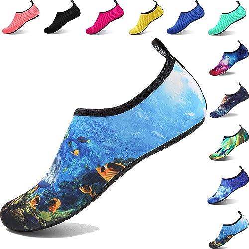 1b0244bcd94 Aqua Shoes Escarpines Hombres Mujer Niños Zapatos de Agua Zapatillas Ligeros  de Secado Rápido para Swim Beach Surf Yoga  Amazon.es  Zapatos y  complementos