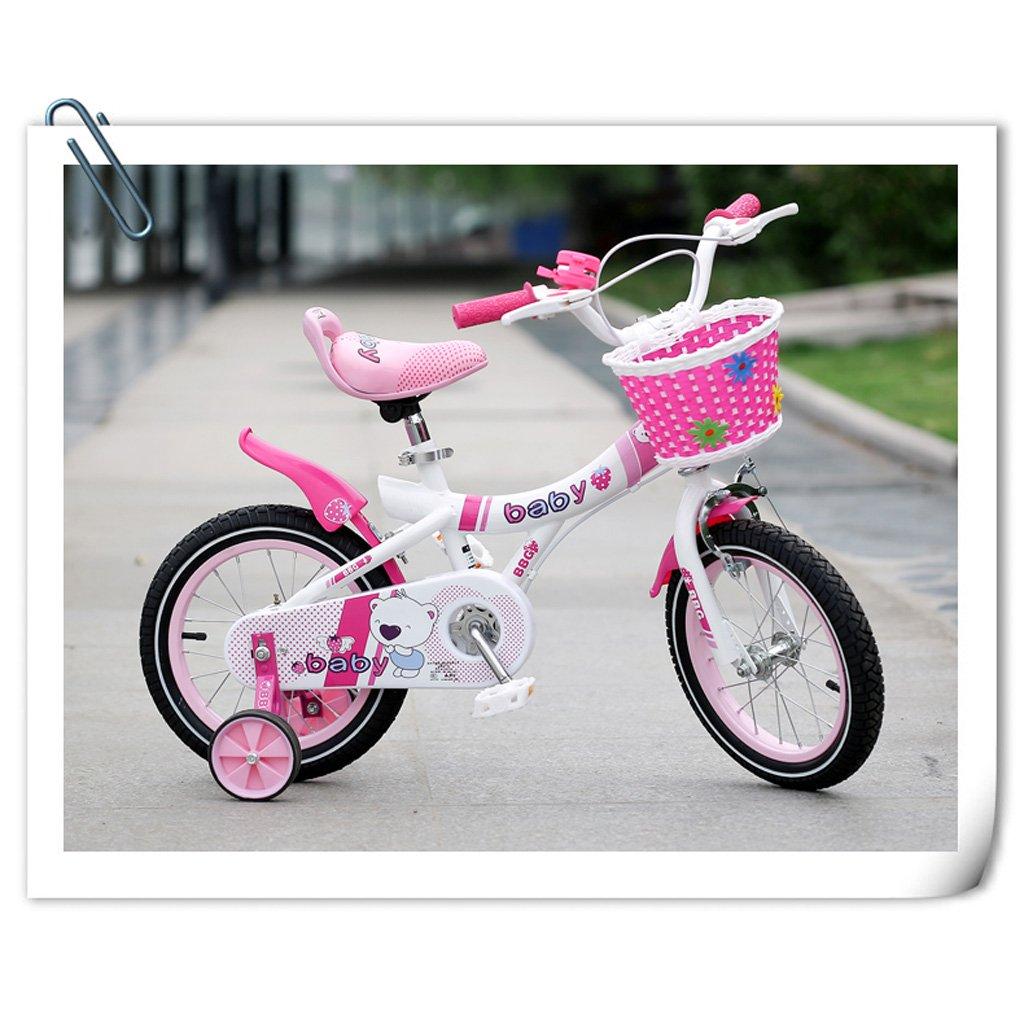 子供用自転車12インチ/ 14インチ/ 16インチガールベビーキャリッジ3-8歳ベビーペダル自転車ピンク ( Size : 14 inch pink ) B07DP3C2D5