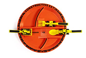 Constructive Eating Construction Plate with Construction Utensil Set for Toddlers Babies Infants and Kids  sc 1 st  Amazon.com & Amazon.com : Constructive Eating Construction Plate with ...