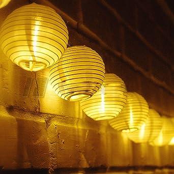 XGUO Guirlandes lumineuses d\'extérieur 30 Lampions Japonais LED ...