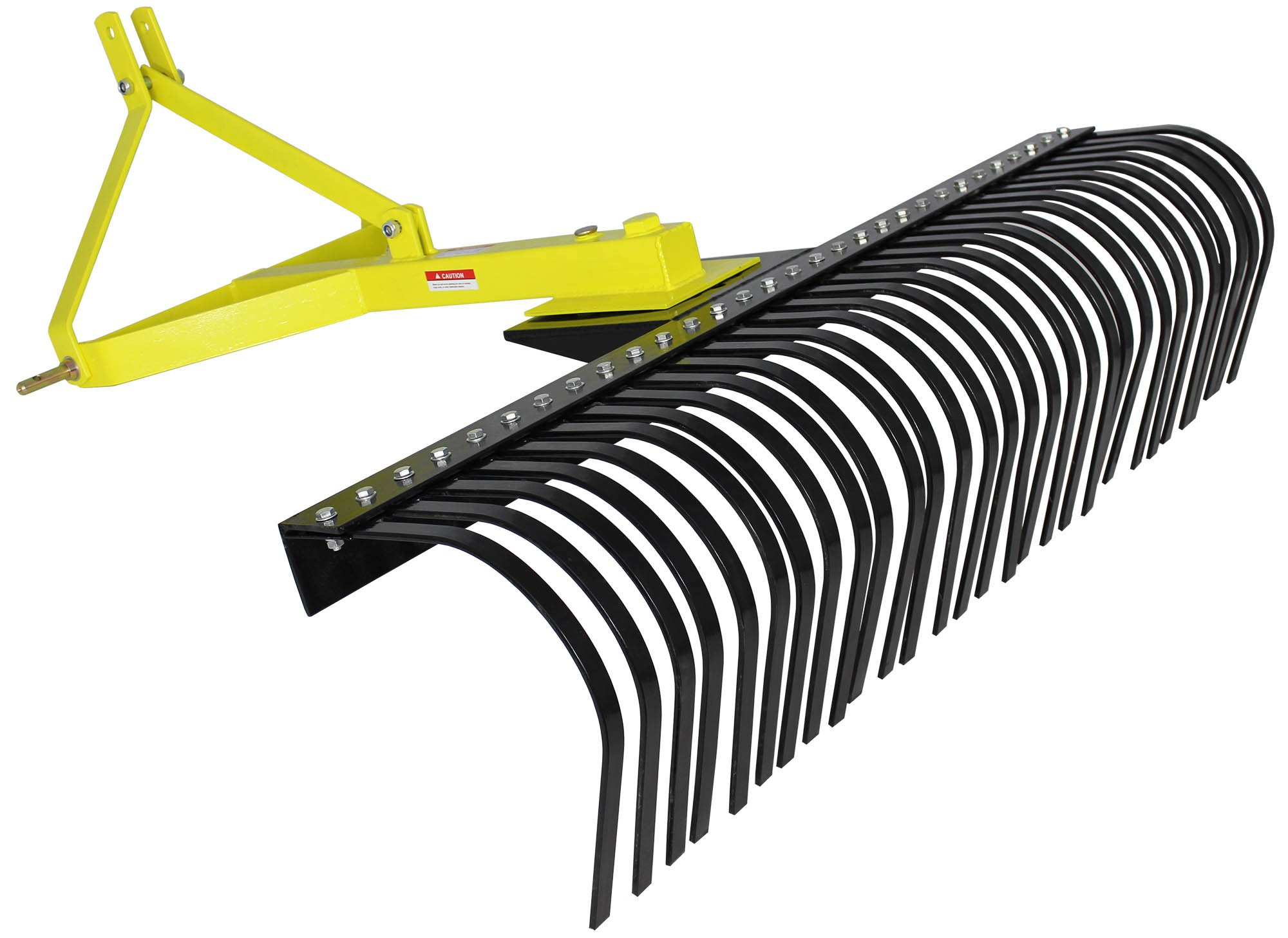 Titan Attachments Landscape Rock Rake 3 Point Soil Gravel Lawn Tow Behind Compact Tractor 4ft York