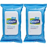 Cetaphil Gentle Skin Cleansing Cloths, 25 Sheets, (PACK OF 2)