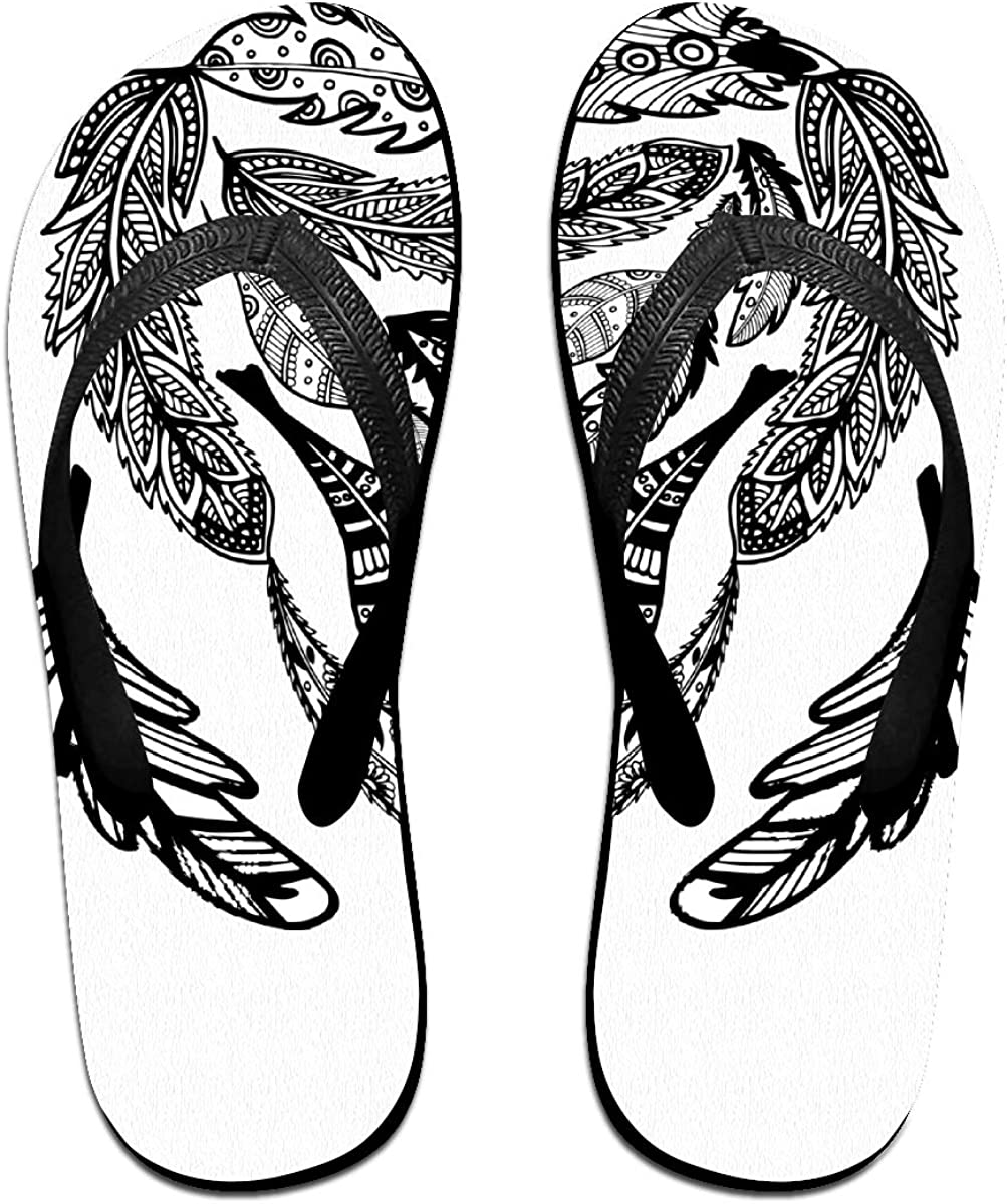 Redeast Thong Flip Flops Feather Comfortable and Lightweight Sandals Beach Shoes and Shower Shoes