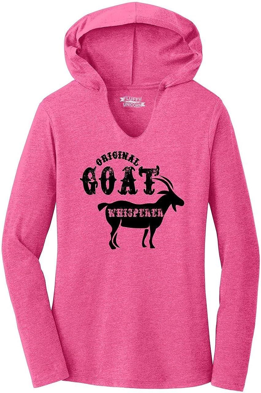Comical Shirt Ladies Original Goat Whisperer Hoodie Shirt