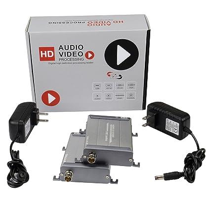TreasLin 300m HDMI Coaxial Extender TX RX 1080P Over Coax Cable Rg59 Rg6 Rg7 Rg8 BNC