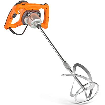 VonHaus Paddle Mixer Drill - Cement Stirrer with Gear Selection and 2 Stage  Safety Switch – 1600W Handheld Tool for Mixing
