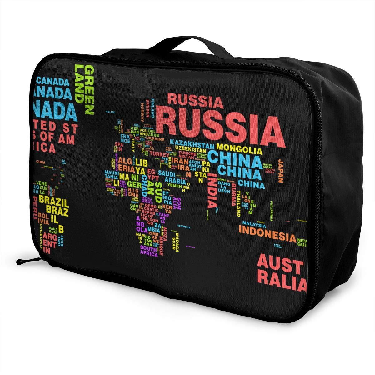 Travel Luggage Duffle Bag Lightweight Portable Handbag Vintage World Map Large Capacity Waterproof Foldable Storage Tote