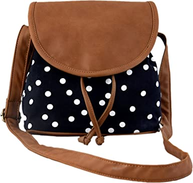 Kleio Women's Sling Bag (Black And Brown,Bnb315Ly-Bl): Amazon.in ...