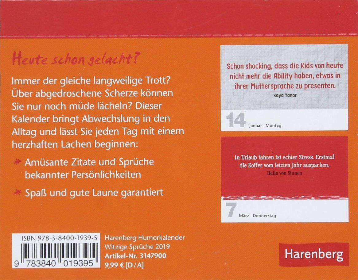 Witzige Spruche Kalender 2019 Amazon De Harenberg Jochen