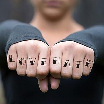 Tatuaje Temporal de Amor y odio (2 Piezas) - www.ohmytat.com ...