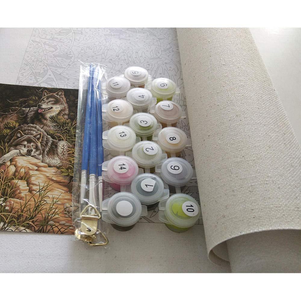 Pittura A Olio su Tela di Lino WYTCY Dipingi con I Numeri Kit di Pittura Fai da Te Adatto per Adulti E Principianti40*50CM Joker Pittura di Arte Moderna