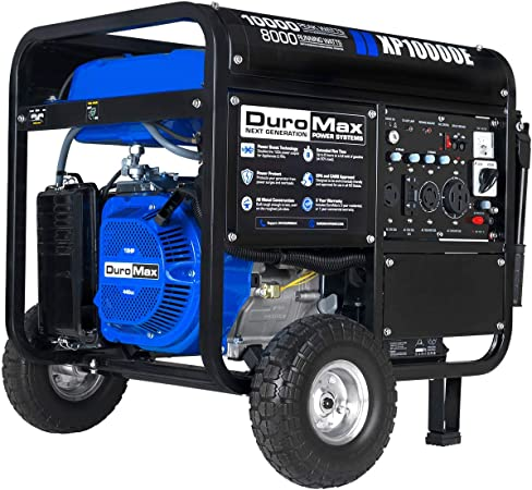 Amazon.com : DuroMax XP10000E Gas Powered Portable Generator, Blue ...