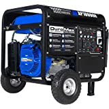 DuroMax XP10000E Gas Powered Portable Generator-10000 Watt Electric Start-Home Back Up & RV Ready, 50 State Approved, Blue/Bl