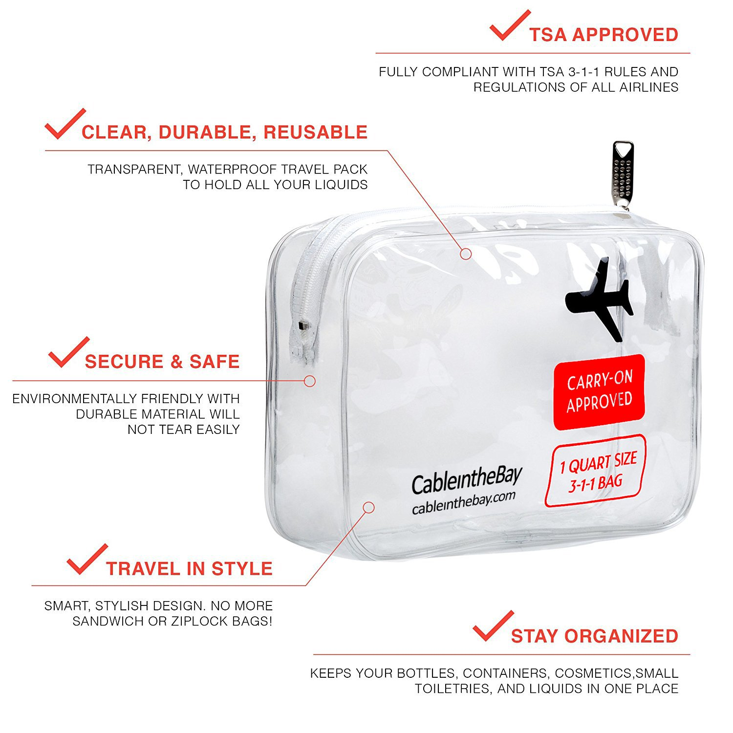 Amazon.com  TSA Approved Toiletry Bag  f98e9861a3adc