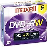Maxell DISC,DVD+RW,JC,5/PK