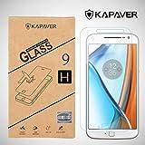 Kapaver Moto G4 Plus Tempered Glass, 2.5D Arc Edge 9H Hardness Premium Screen Guard Protector