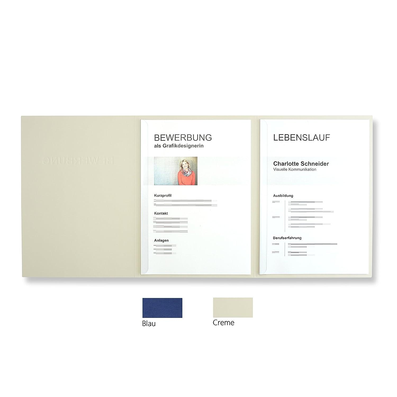 '10unidades de 3piezas carpetas para Azul con 2rieles de sujeción en cartón de piel estructura//alta calidad en relieve