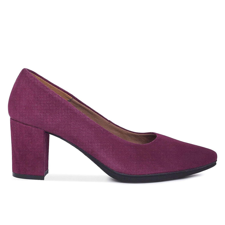 TALLA 35 EU. Zapatos Salón. Zapatos Piel Mujer Hechos EN ESPAÑA. Zapatos Tacón Granate. Zapato Mimao. Zapatos Mujer Tacón. Zapatos Mujer Fiesta y Baile Latino. Zapato Cómodo Mujer con Plantilla Confort Gel