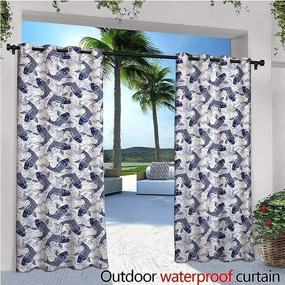 Cortinas opacas para exteriores inspiradas en Asia geométricas ...