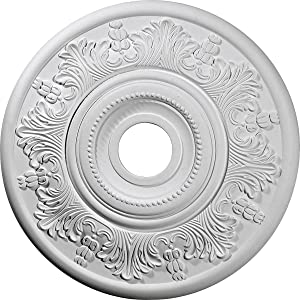 """Ekena Millwork CM20VI Vienna Ceiling Medallion, 20""""OD x 3 1/2""""ID x 1 1/2""""P (Fits Canopies up to 6 1/2""""), Factory Primed"""