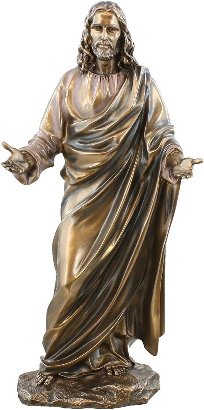 Jesus Christ Blessing Statue Real Bronze Powder Cast Statue Sculpture 12 By King Tut S Secret Amazon Co Uk Kitchen Home