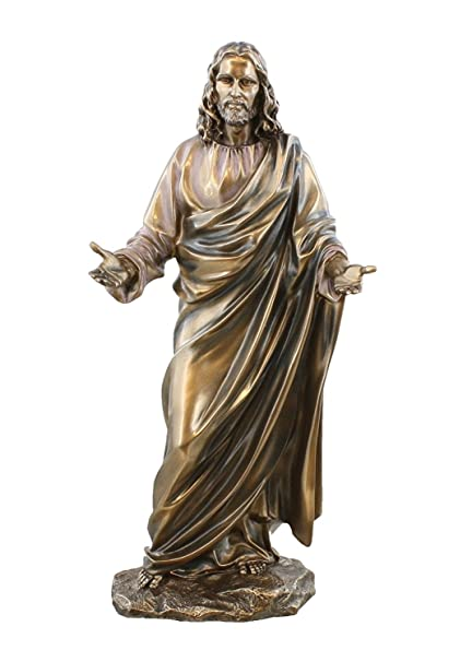 jesus christ blessing statue real bronze powder cast statue sculpture 12 - A Christmas Blessing Cast