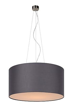 Lucide 61452/40/36 Coral - Lámpara de techo colgante (tela, E27, 40 cm), color gris