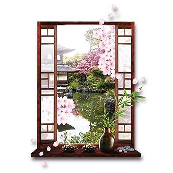 Les Trésors De Lily [M5228 - Sticker Trompe l\'oeil \'Jardin Japonais ...