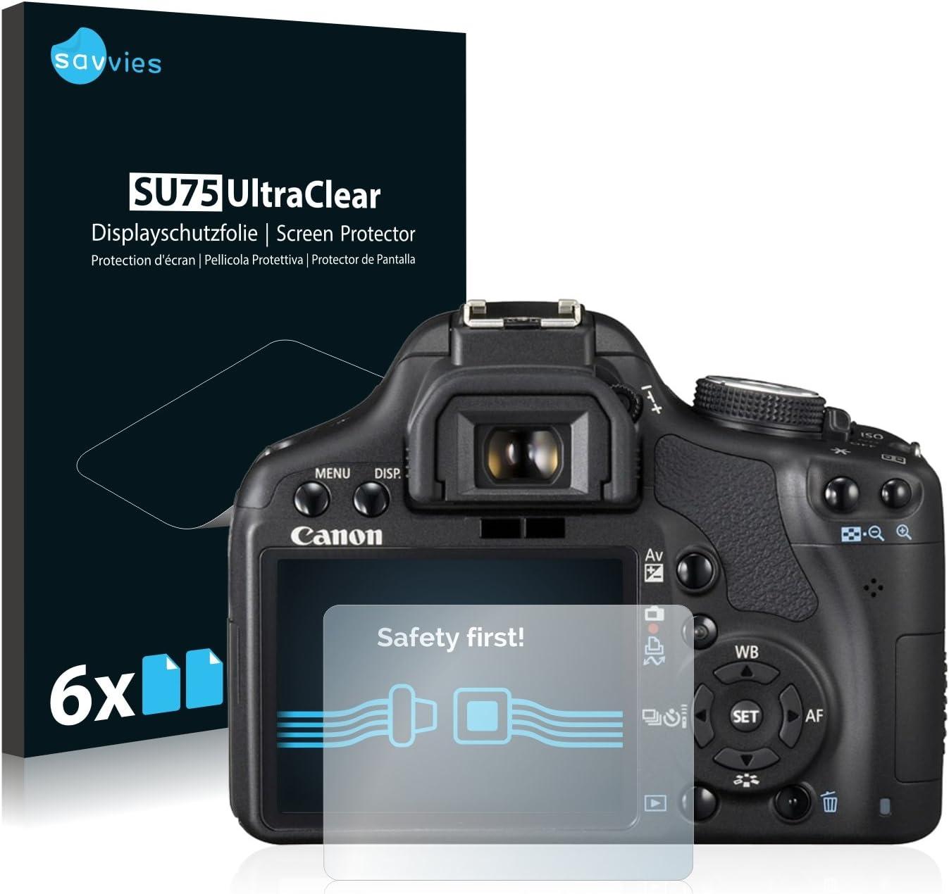 savvies Protector Pantalla Compatible con Canon EOS 500D (6 ...