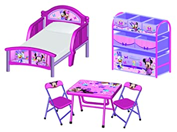 Disney Minnie Maus 3tlg. Kinderzimmer Set Kinderbett Regal ...