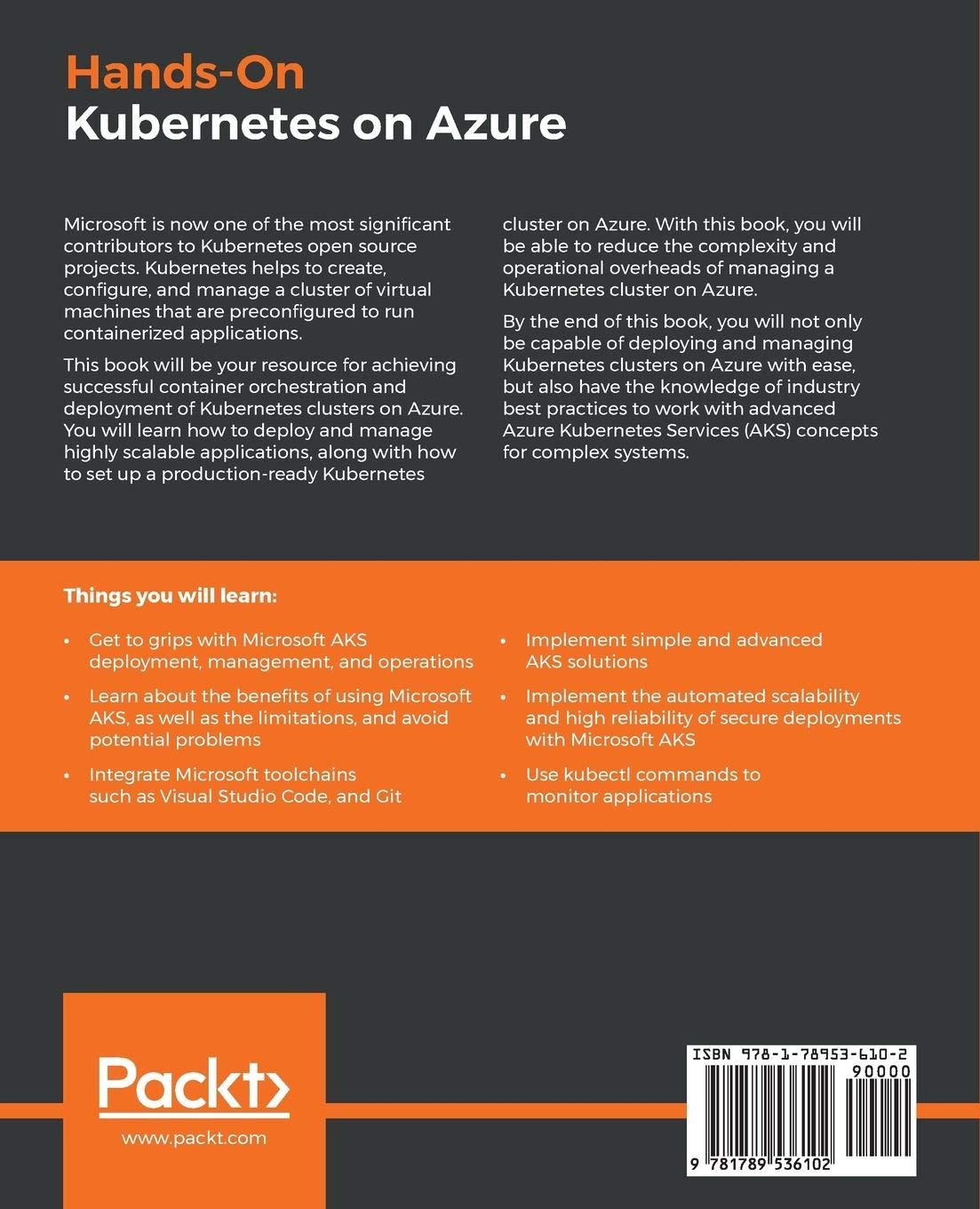 Buy Hands-On Kubernetes on Azure: Run your applications securely and