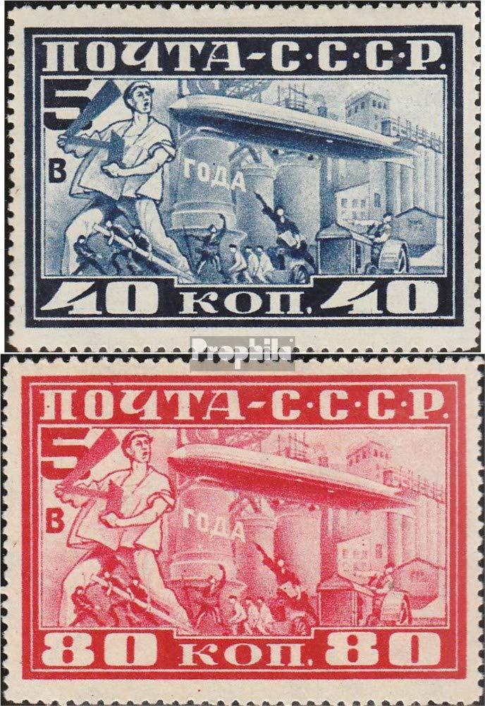 Prophila Collection Unión Soviética 390A-391A (Completa.edición.) dentado L12,5 1930 cónde Zeppelin (Sellos para los coleccionistas) Aviación